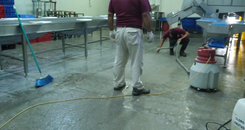 Tratamiento para pisos industrales, productos químicos
