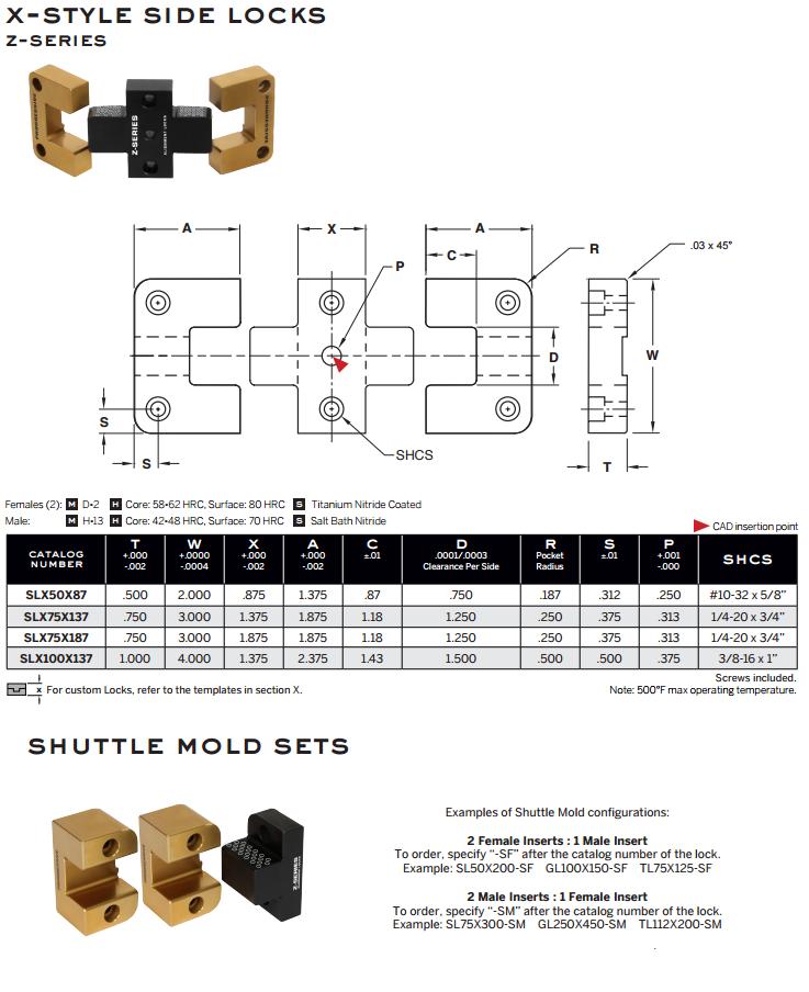 side-lock, alignment